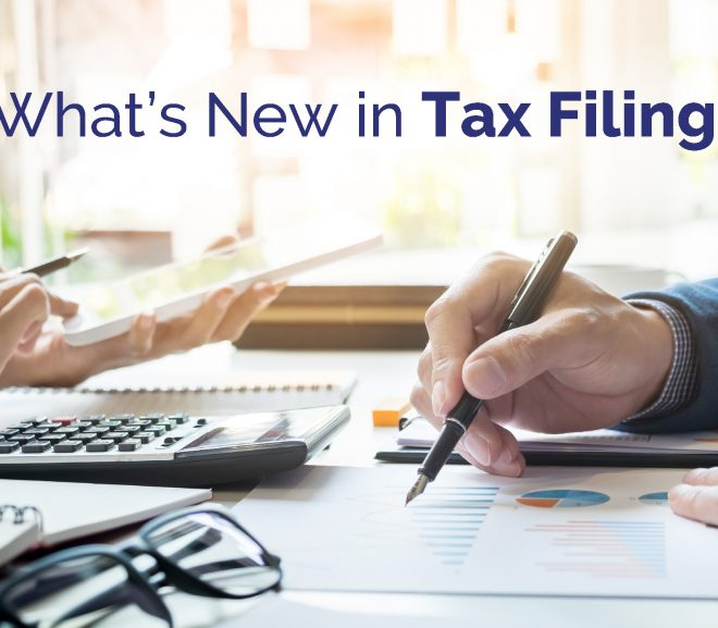 What's new in tax filing?
